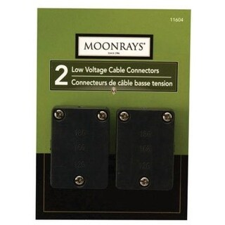 Moonrays 11604 Cable Connectors for Low Voltage Landscape Lighting, 2 Pack