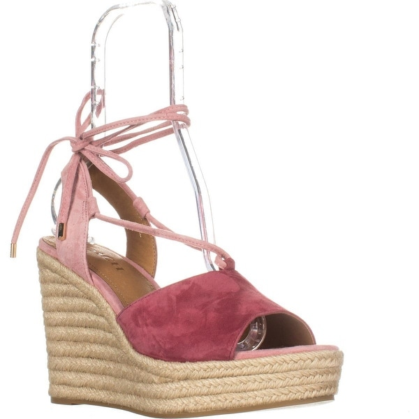 54b86e15f Shop Coach Dana Espadrilles Sandals, Rouge/Pink, 9 US / 39 EU, Rouge ...