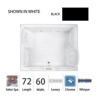 """Jacuzzi FUZ7260 CCR 4CW 72"""" x 60"""" Fuzion Drop In Luxury Salon Spa Bathtub with 15 Jets, Luxury Controls, Chromatherapy, Heater,"""