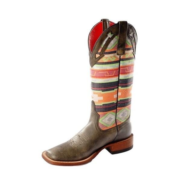 Macie Bean Western Boots Womens Marfa Roper Black Cracktacular