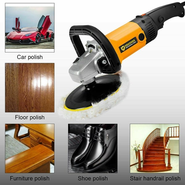 """7/"""" Electric 6 Variable Speed Car Polisher Buffer Waxer Sander Detail Boat w//Case"""