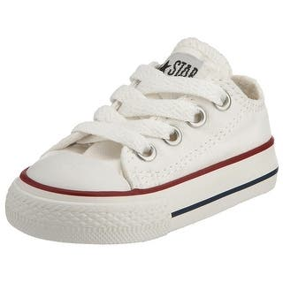 Converse Unisex Child Infant/Toddler Chuck Taylor All Star Ox - White - 7 TOD|https://ak1.ostkcdn.com/images/products/is/images/direct/178ee712c14ee7b7222cd02a0377123e9c3b7f5d/Converse-Unisex-Child-Infant-Toddler-Chuck-Taylor-All-Star-Ox---White---7-TOD.jpg?impolicy=medium