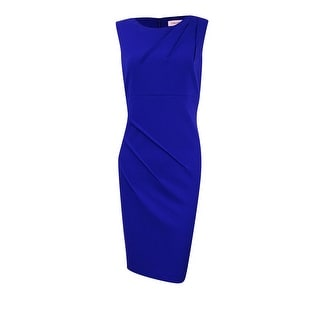 Calvin Klein Women's Pleated Sleeveless Crepe Dress
