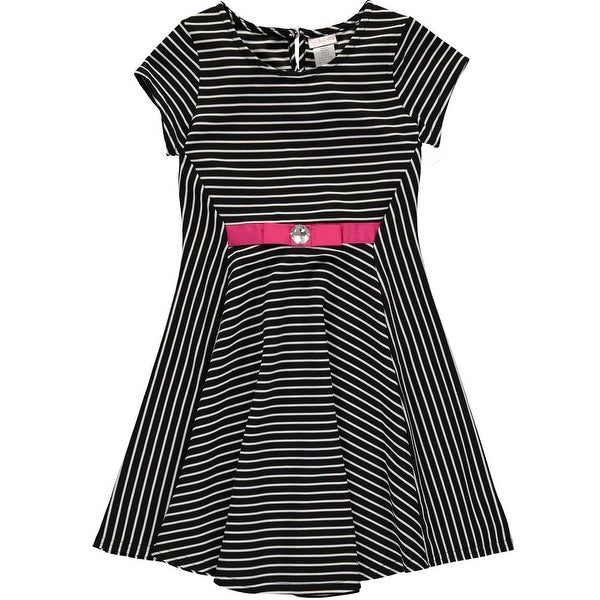 c5d54008da1c Shop Youngland Big Girls 7-12 Striped Knit Dress - Free Shipping On Orders  Over $45 - Overstock - 18768247
