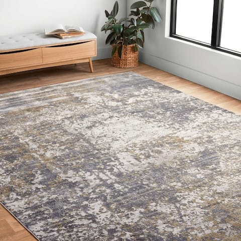 Alexander Home Mason Modern Distressed Abstract Rug