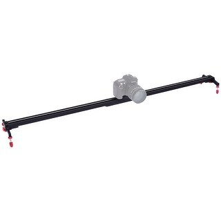 Costway 40'' Camera Video Slider Track Stabilizer Rail Ball-Bearing Adjustable Leg w Bag