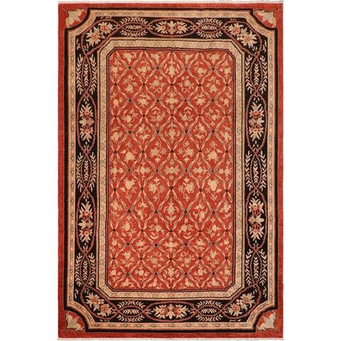 Kafkaz Mable Red/Black Wool and Natural Fiber Rug - 10' x 14'