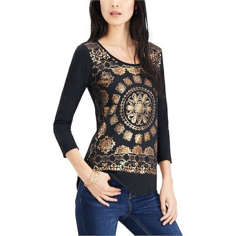Lucky Brand Womens Medallion Graphic T-Shirt