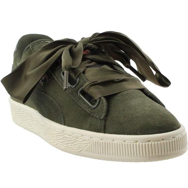 Shop PUMA Womens Suede Heart Velvet Rope Athletic & Sneakers Green ...