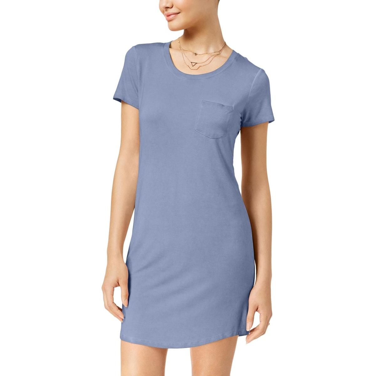 Ultra Flirt Womens Pocket Marled Shift Dress
