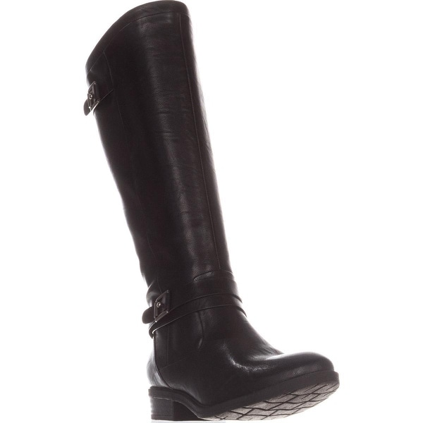 BareTraps Yalina Flat Riding Boots, Black