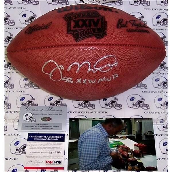 Shop Inc Joe Montana Hand Signed Super Bowl XXIV Official NFL Football -  Free Shipping Today - Overstock - 23746060 e440854a7