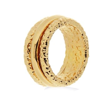 Forever Last 18 kt Gold Plated Women's 9mm Band Rolling Band