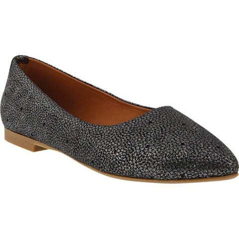 Spring Step Women's Nomalee Ballet Flat Pewter Leather