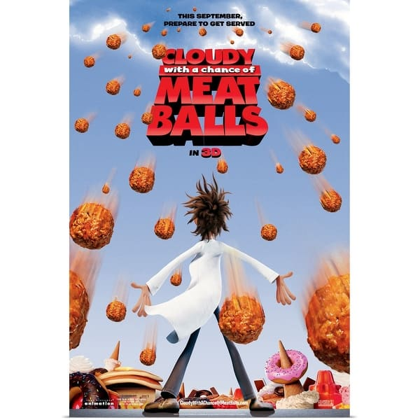 Shop Cloudy With A Chance Of Meatballs 2009 Poster Print Overstock 24134034