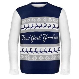 New York Yankees Wordmark MLB Ugly Sweater