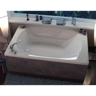 "Avano AV4878CAR Curacao 77-7/8"" Acrylic Air Bathtub for Drop-In Installations with Center Drain - White"
