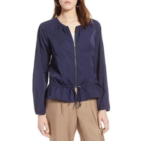 Halogen Drawstring Jacket, Navy Peacoat, Small