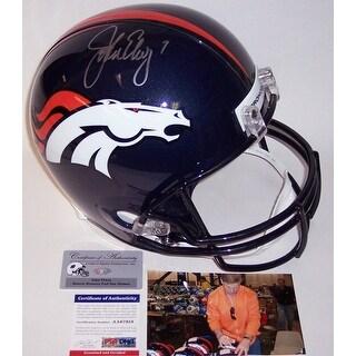John Elway Autographed Hand Denver Broncos Full Size Helmet  PSADNA