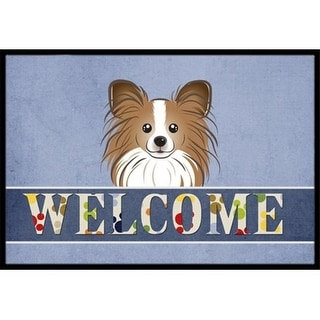 Carolines Treasures BB1434MAT Papillon Welcome Indoor & Outdoor Mat 18 x 27 in.