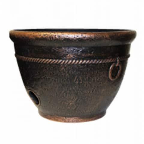 "Liberty GardenA¢ 1925 Rope High Density Resin Hose Pot, 100' of 5/8"" Hose Capacity"