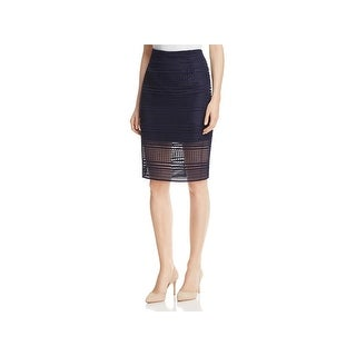 Cupcakes and Cashmere Womens Derry Pencil Skirt Crochet Knee-Length