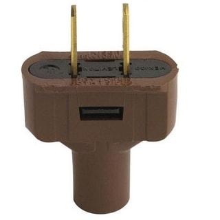 Leviton 48643-000 Short Flat Vinyl Plug, 125 Volt, 15 Amp