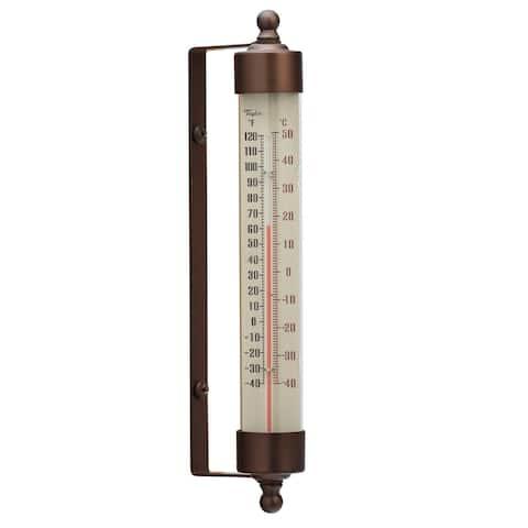 "Taylor 483BZ Spirit-Filled Metal Thermometer, 7.53"", Bronze"