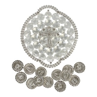 Angels Garment Silver Glamorous Cross Holder Coins Wedding Arras