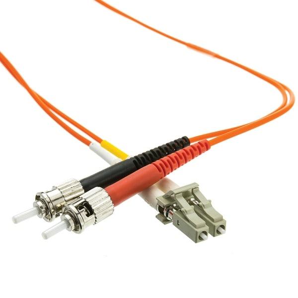 Offex Plenum Fiber Optic Cable, LC / ST, Multimode, Duplex, 62.5/125, 3 meter (10 foot)