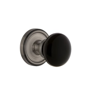 Grandeur GEOCOV_DD_NA  Georgetown Solid Brass Rose Dummy Door Knob Set with Coventry Knob