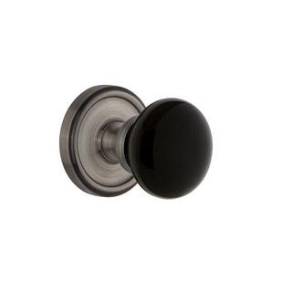 "Grandeur GEOCOV_PSG_238  Georgetown Solid Brass Rose Passage Door Knob Set with Coventry Knob and 2-3/8"" Backset"