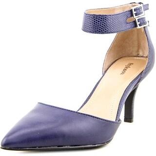 Style & Co Wandah Women Pointed Toe Synthetic Blue Heels