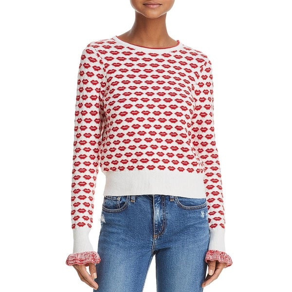 Shop French Connection Womens Kiss Pullover Sweater Crewneck