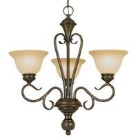 Millennium Lighting 6073 Devonshire 3-Light Single Tier Chandelier - Burnished Gold - N/A