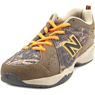 New Balance KX624 Youth  Round Toe Leather Brown Sneakers