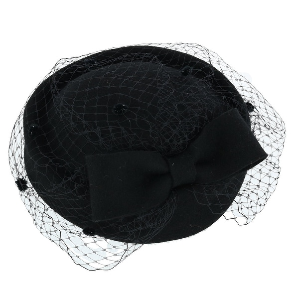 c3007903982c8 Shop Jeanne Simmons Women s Wool Felt Church Hat with Netting - Free  Shipping On Orders Over  45 - Overstock - 23620744