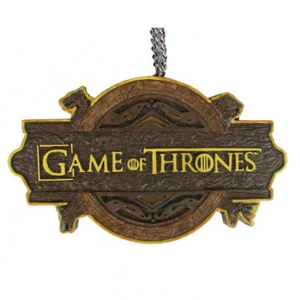 "3.75"" Brown and Gold Game of Thrones Logo Decorative Christmas Ornament"