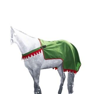 Tough-1 Quarter Sheet Horse Elf Holiday Fun Felt Green