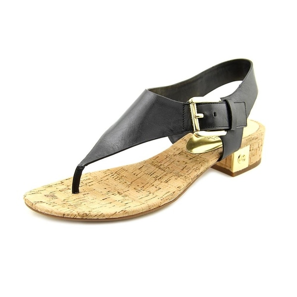 c2affbb8d688 Michael Michael Kors London Thong Women Open Toe Leather Black Thong Sandal