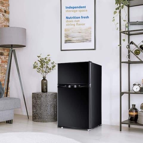 Freezer 3 Cu. Ft Mini Refrigerator,Compact Fridge with Double 2 Door