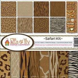 """Safari - Ella & Viv Collection Kit 12""""X12"""""""