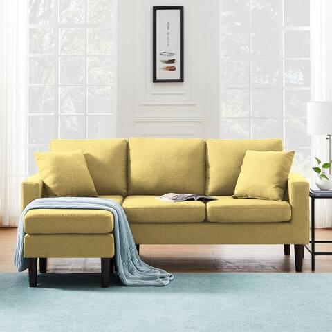 TiramisuBest Sectional sofa left hand facing with 2 pillows