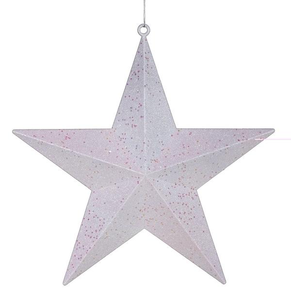"""20"""" White Glitter Star"""