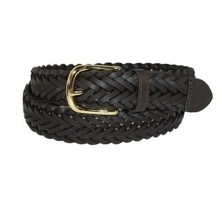 Aquarius Boys' Leather Braided Uniform Dress Belt