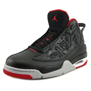 Jordan Dub Zero Men Round Toe Leather Black Sneakers