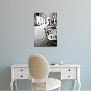Easy Art Prints Walter Bibikow's 'Cafe And Archway' Premium Canvas Art