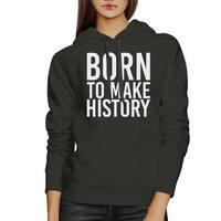 Born To Make History Unisex Heather Grey Hoodie Yuri On Ice Quote
