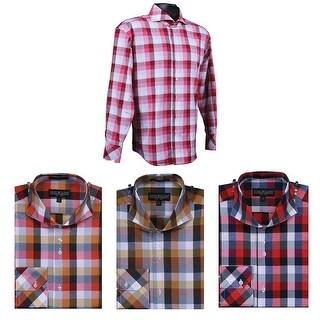 Men's Trendy Large Check Fancy Shirt