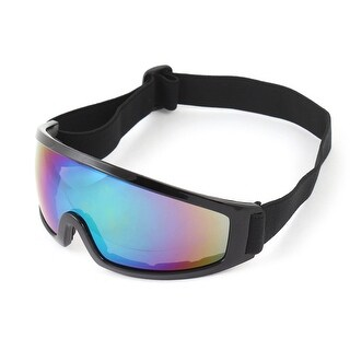 Unique Bargains 2.5cm Width Elastic Band Wind Sand Desert Eyes Protector UNI Goggles Black